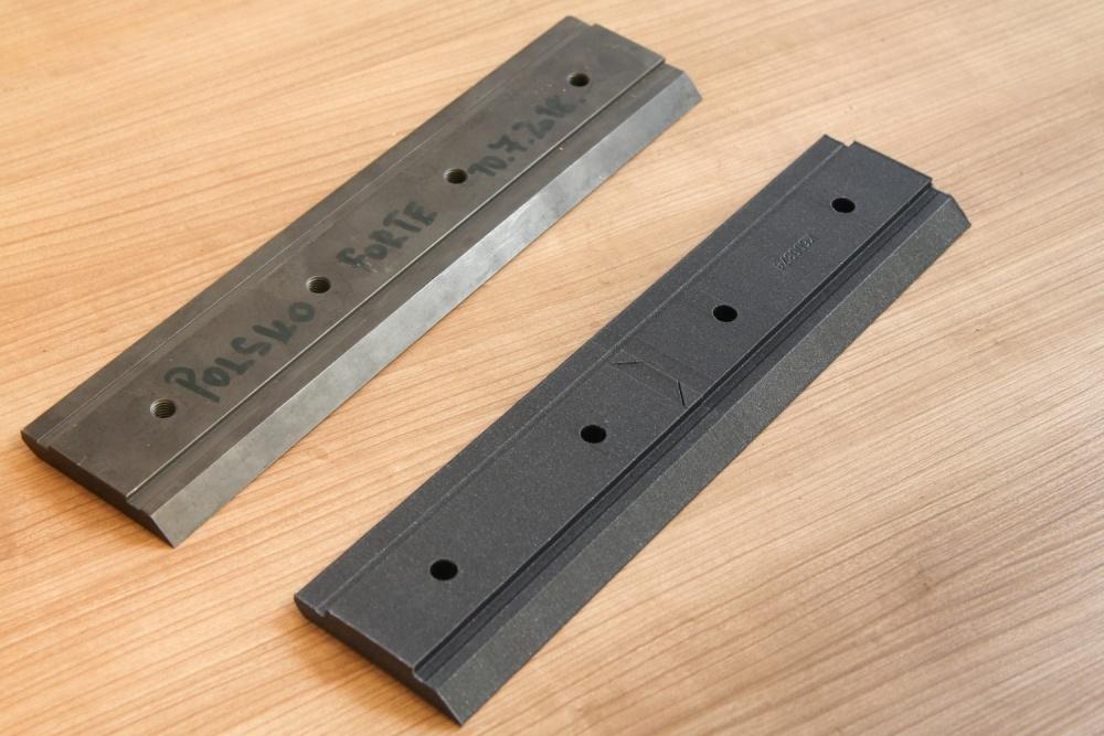 Prototyp průmyslového nože. <br />PILANA Machinery a.s.
