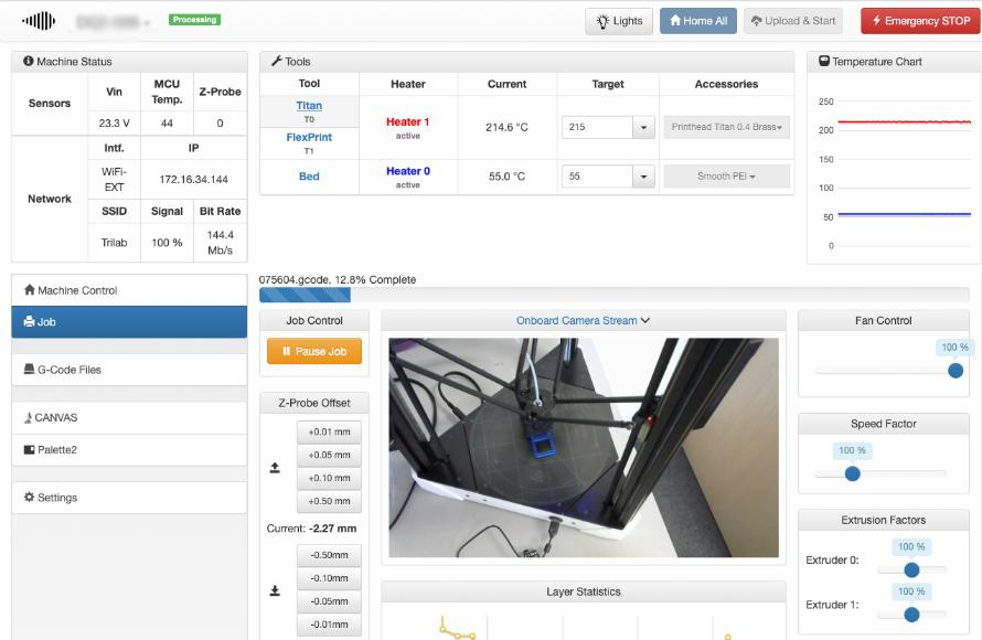 Webové rozhraní vzdáleného přístupu k 3D tiskárně